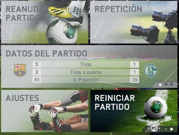 FIFA 14 como desbloquear opcion reiniciar partido o jugar revanchas 2