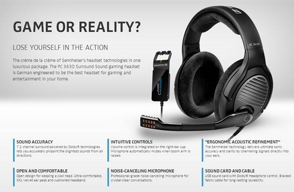 10 mejores audifonos para gamers - sennheiser 363d