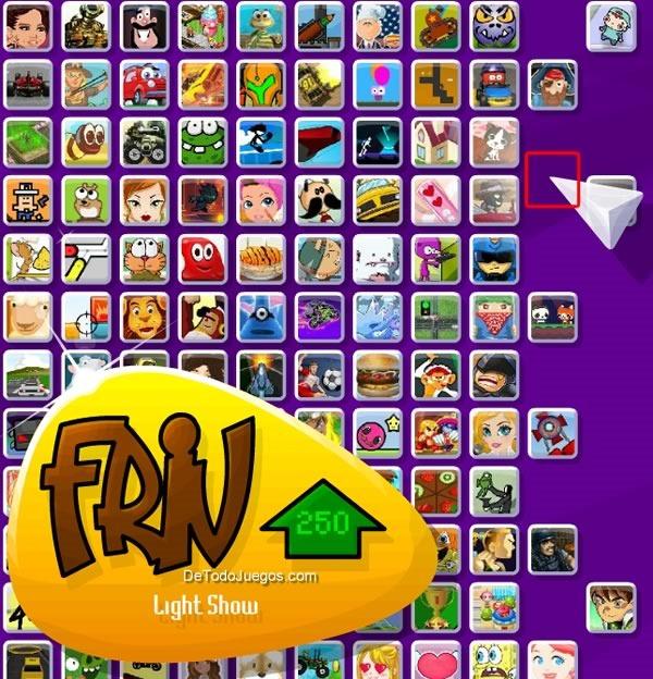 juego secreto friv light show