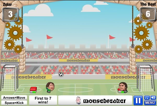 10 mejores juegos de futbol online gratis - sports heads chanllenges