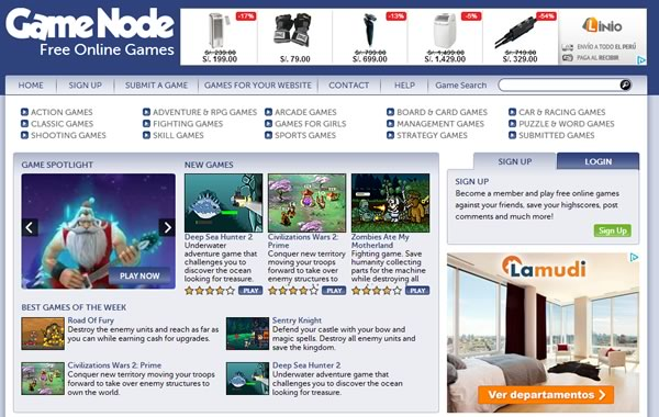 game node - juegos gratis online
