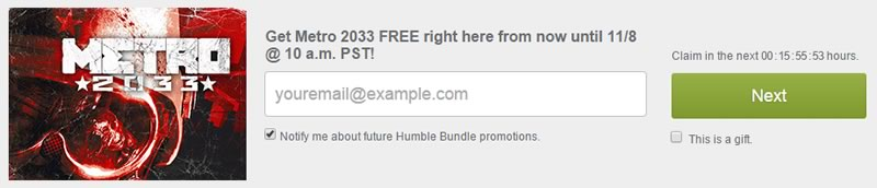 descarga metro 2033 gratis por humble store - correo