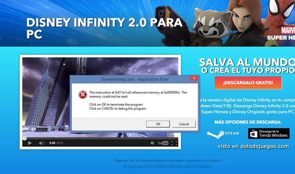 solucion disney infinity 2 para pc no funciona