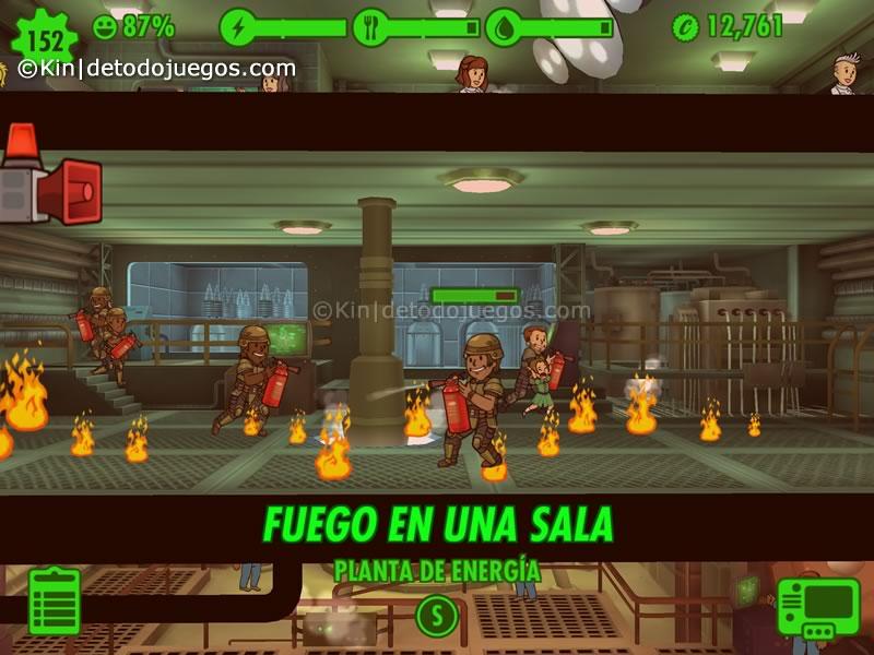 10 trucos y tips para fallout  shelter - fuego en una sala