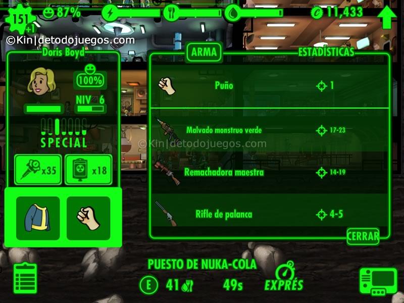 10 trucos y tips para fallout  shelter - mantener armas en almacen