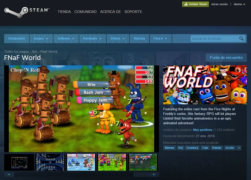 descarga fnaf world